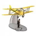 Figurine de collection Tintin L'avion biplan jaune L'Île Noire Nº11 29531 (2015)