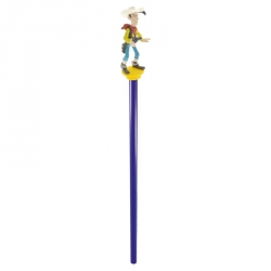 Wooden Pencil Plastoy with mini figure: Lucky Luke (63404)