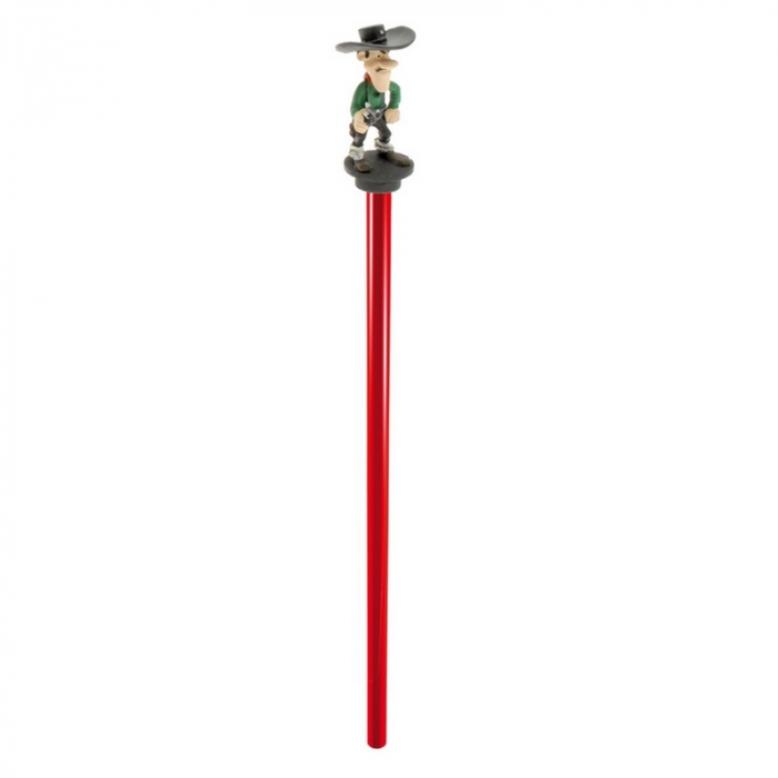 Lápiz de madera Plastoy con figurita: Lucky Luke, Joe Dalton (63405)