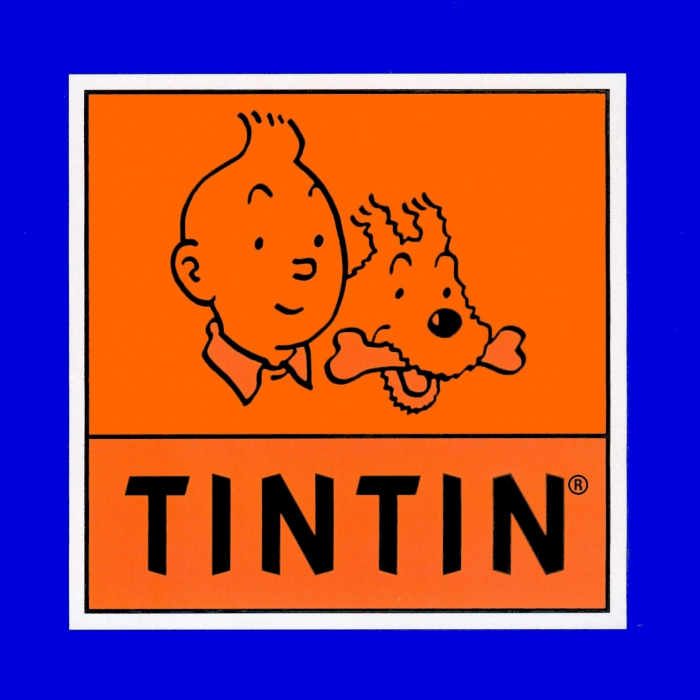 Sticker of the official logo Tintin and Snowy Moulinsart 16x16cm ...