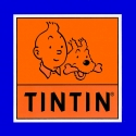 Sticker of the official logo Tintin and Snowy Moulinsart 32x32cm (04091)