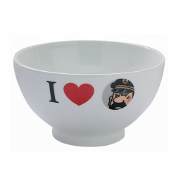 Bol en porcelaine de Tintin I Love Le Capitaine Haddock (47950)