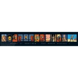Póster Offset Gomb-R Editions de Blake y Mortimer Par Horus Demeure ! (100x18cm)