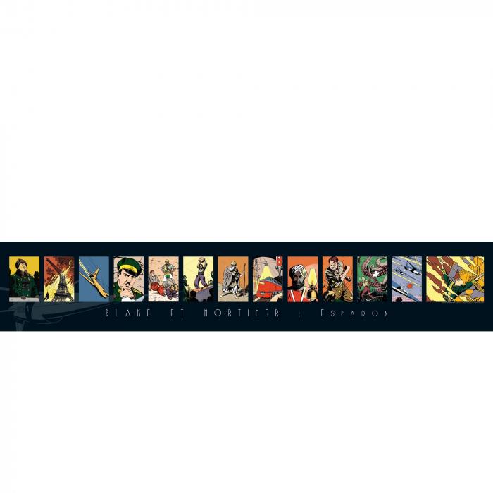 Póster Offset Gomb-R Editions de Blake y Mortimer Espadon (100x18cm)