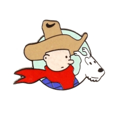 Pin's Tintin and Snowy Cow-boy Corner (Nº207)