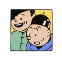Pin's Tintin and Tchang Corner (Nº254)