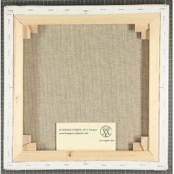 Framed Canvas The Smurfs Gaw Gaw Editions du Grand Vingtième (45x40cm)