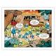Toile imprimée Les Schtroumpfs La Base Editions du Grand Vingtième (50x40cm)