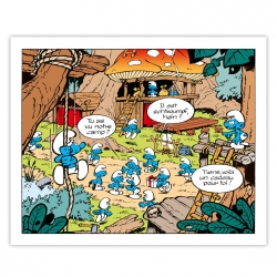Framed Canvas The Smurfs Base Editions du Grand Vingtième (50x40cm)