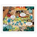 Toile imprimée Les Schtroumpfs Le camp Editions du Grand Vingtième (50x40cm)