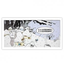 Cuadro en lienzo Los Pitufos La Venganza Editions du Grand Vingtième (60x30cm)