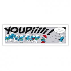 Cuadro en lienzo Los Pitufos Youpiiiii ! Editions du Grand Vingtième (60x18cm)