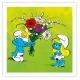Toile imprimée Les Schtroumpfs Le Bouquet Editions du Grand Vingtième (40x40cm)