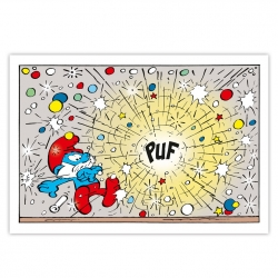 Cuadro en lienzo Los Pitufos PUF Editions du Grand Vingtième (60x40cm)