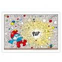 Toile imprimée Les Schtroumpfs PUF Editions du Grand Vingtième (60x40cm)