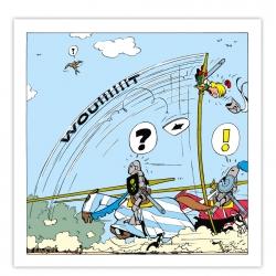 Toile imprimée Johan et Pirlouit La Joute Editions du Grand Vingtième (40x40cm)