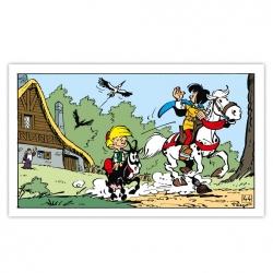 Cuadro en lienzo Johan y Pirluit Adiós Editions du Grand Vingtième (60x35cm)