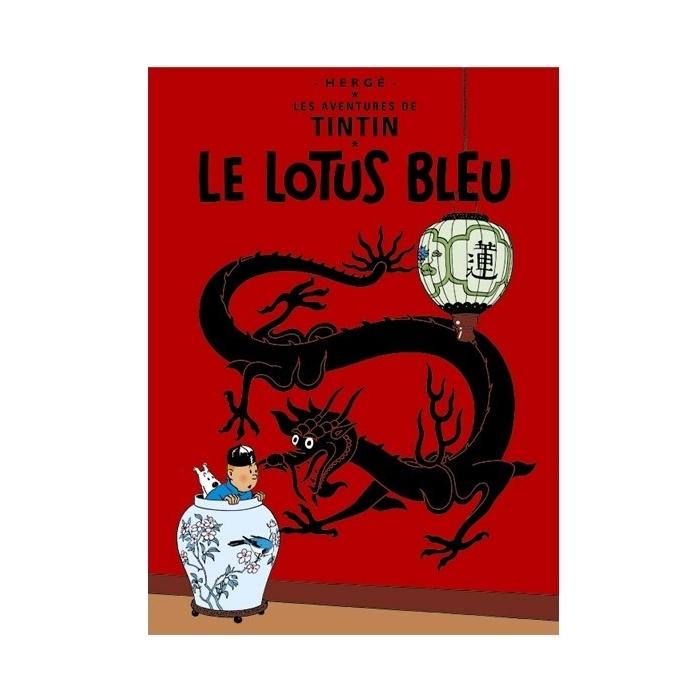 Poster Moulinsart Tintin Album: The Blue Lotus 23300 (60x40cm)