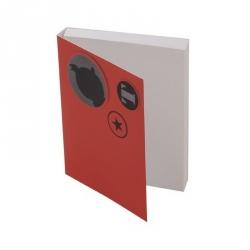 Bloc de notas adhesivas Tintín Rojo 9,5x7,5cm (54733)