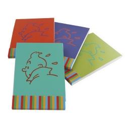 Set de cuatro bloc de notas memo Las aventuras de Tintín Perfil 12x8cm (54762)