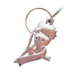 Porte-clés Le Petit Prince en écharpe et le renard Les étains de Virginie (2014)