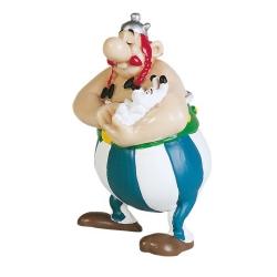 Collectible figure Plastoy Astérix Obélix holding Dogmatix 60502 (2015)
