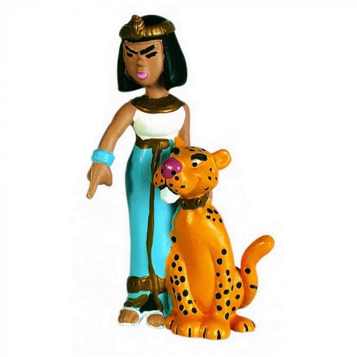 Figura de colección Plastoy Astérix Cleopatra con su pantera 60513 (2015)