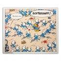 Unframed Canvas The Smurfs Last Square Editions du Grand Vingtième (120x100cm)
