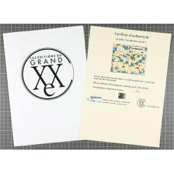 Toile imprimée Les Schtroumpfs Le carré Editions du Grand Vingtième (120x100cm)