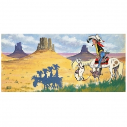 Lienzo impreso Lucky Luke Canyon Editions du Grand Vingtième (118x55cm)
