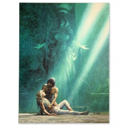 Lienzo impreso Thorgal La ciudad del dios perdido Grand Vingtième (90x120cm)
