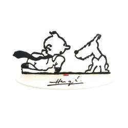 Sculpture de collection en métal Tintin Hommage à Hergé 46228 (2007)