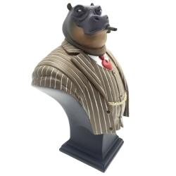 Buste de collection Attakus Blacksad Ted Leeman l'hippopotame B428 (2016)