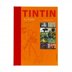 Book Hergé, Tintin à l'écran + 10 timbres (Stamps) Dominique Maricq (24252)
