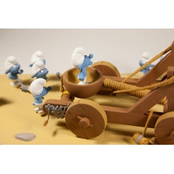 Collectible scene Fariboles The Smurfs: The catapult FARCAT (2016)
