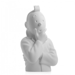 "Porcelain bust ""Pensive Tintin"" Moulinsart Mate 24cm - 44210 (2015)"