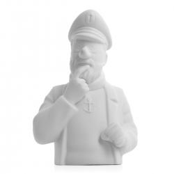 """Porcelain bust """"Pensive Haddock"""" Moulinsart Mate 12cm - 44206 (2014)"""