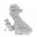Buste en porcelaine Tintin Tournesol et son pendule Mate 13cm - 44208 (2015)