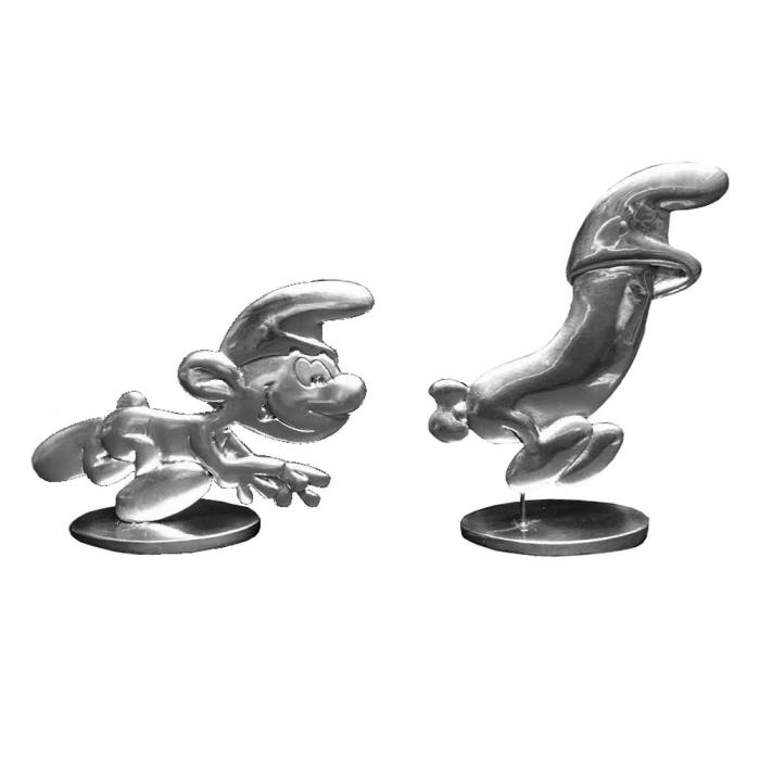 Figurines de collection Les étains de Virginie L'œuf et les Schtroumpfs (2016)
