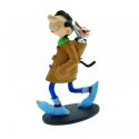 Figurine de collection Plastoy: Gaston Lagaffe Duffle-Coat avec son chat (00303)