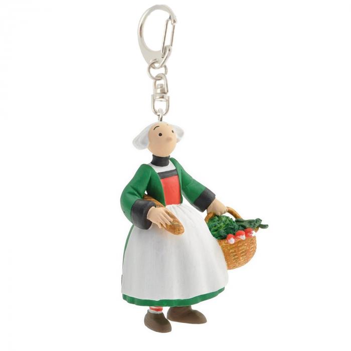 Keychain figure Plastoy Bécassine back from the market 61076 (2014)