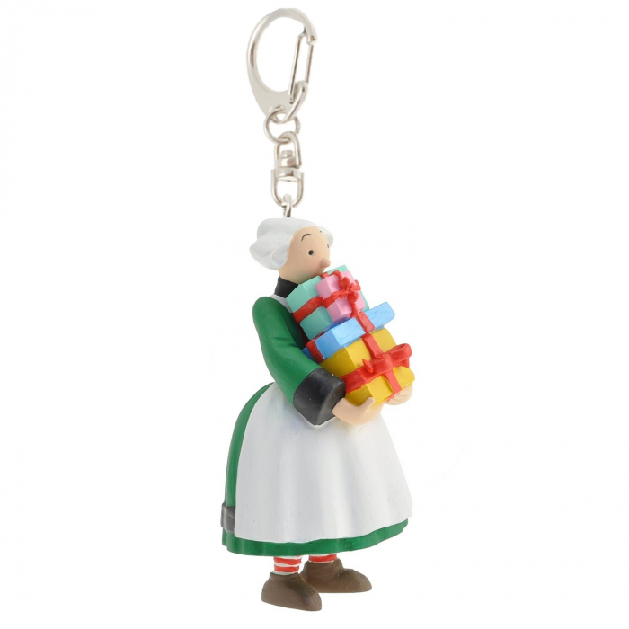 Keychain figure Plastoy Bécassine with a pile of gifts 61073 (2014)