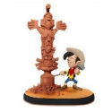 Figurine de collection cote-a-cas éditions Kid Lucky Luke Totem Squaw (2016)