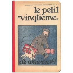 Carnet de notes Tintin Le Petit vingtième ils arrivent ! 8,5x12,5cm (54362)
