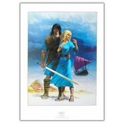 Póster cartel offset P&T de Thorgal y Aaricia Rosinski (50x70cm)