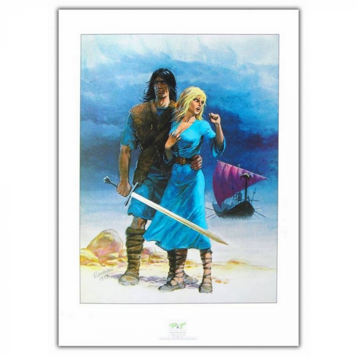 Poster offset P&T Thorgal and Aaricia Rosinski (50x70cm)