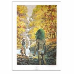 Poster affiche offset P&T de Thorgal Alinoë Rosinski (50x70cm)
