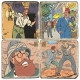 Collectible marble signs set Blake and Mortimer Mystery of the Great Pyramid 1