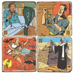 Collectible marble signs set Blake and Mortimer Mystery of the Great Pyramid 2