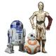 Figura de colección Kotobukiya Star Wars C3-PO, R2-D2 y BB-8 ARTFX+ 1/10 (SW114)
